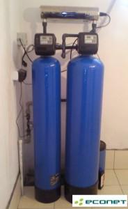 Stacja uzdatniania wody-odżelaziacz, filtr węglowy, lampa UV
