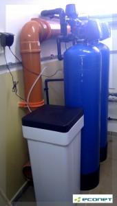 Ciągła dostawa wody zmiękczonej: Zmiękczacz duplex